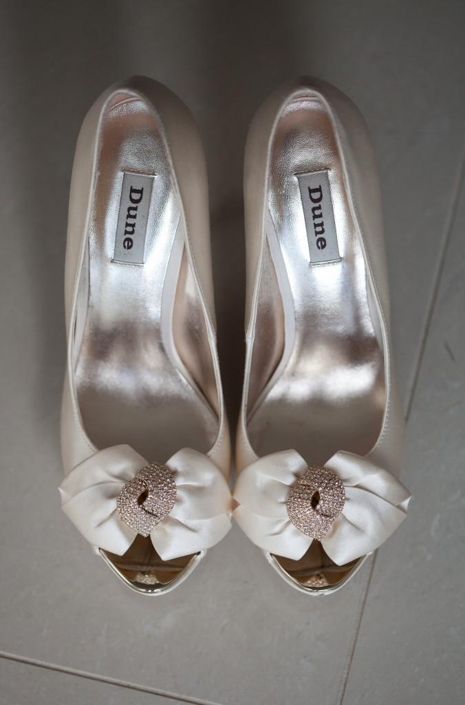 Beautiful wedding shoes by Dune.