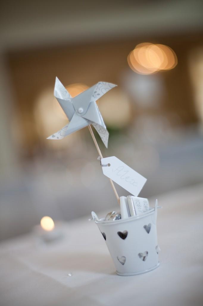 Decorative pin wheels for wedding favours, West Tower Lancashire Photographer