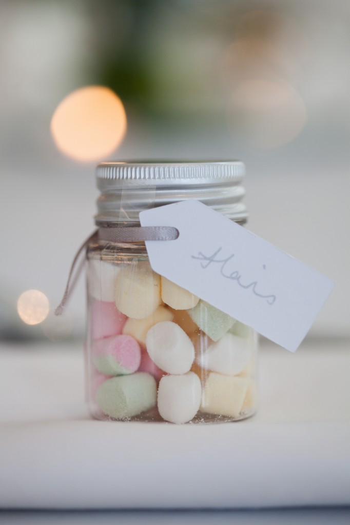 Cute sweetie jar as a wedding favour, West Tower Wedding Photography