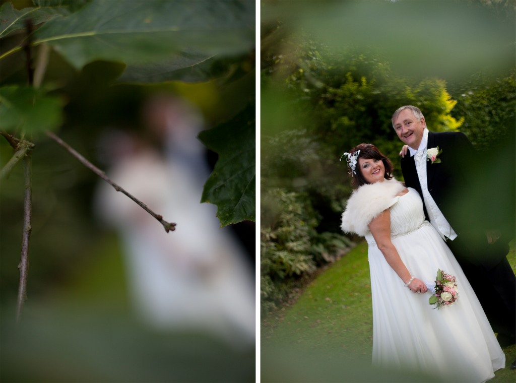 Switch focus, bride and groom couples portraits