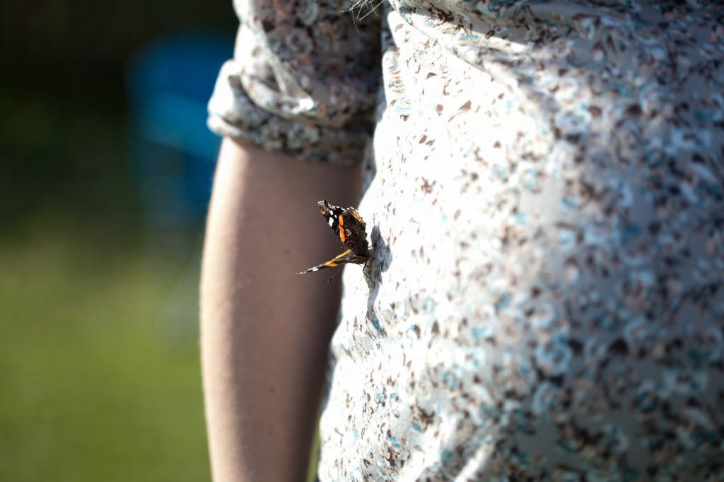 A Butterfly Lands on Pregnant Lady | Maternity Photography St Annes