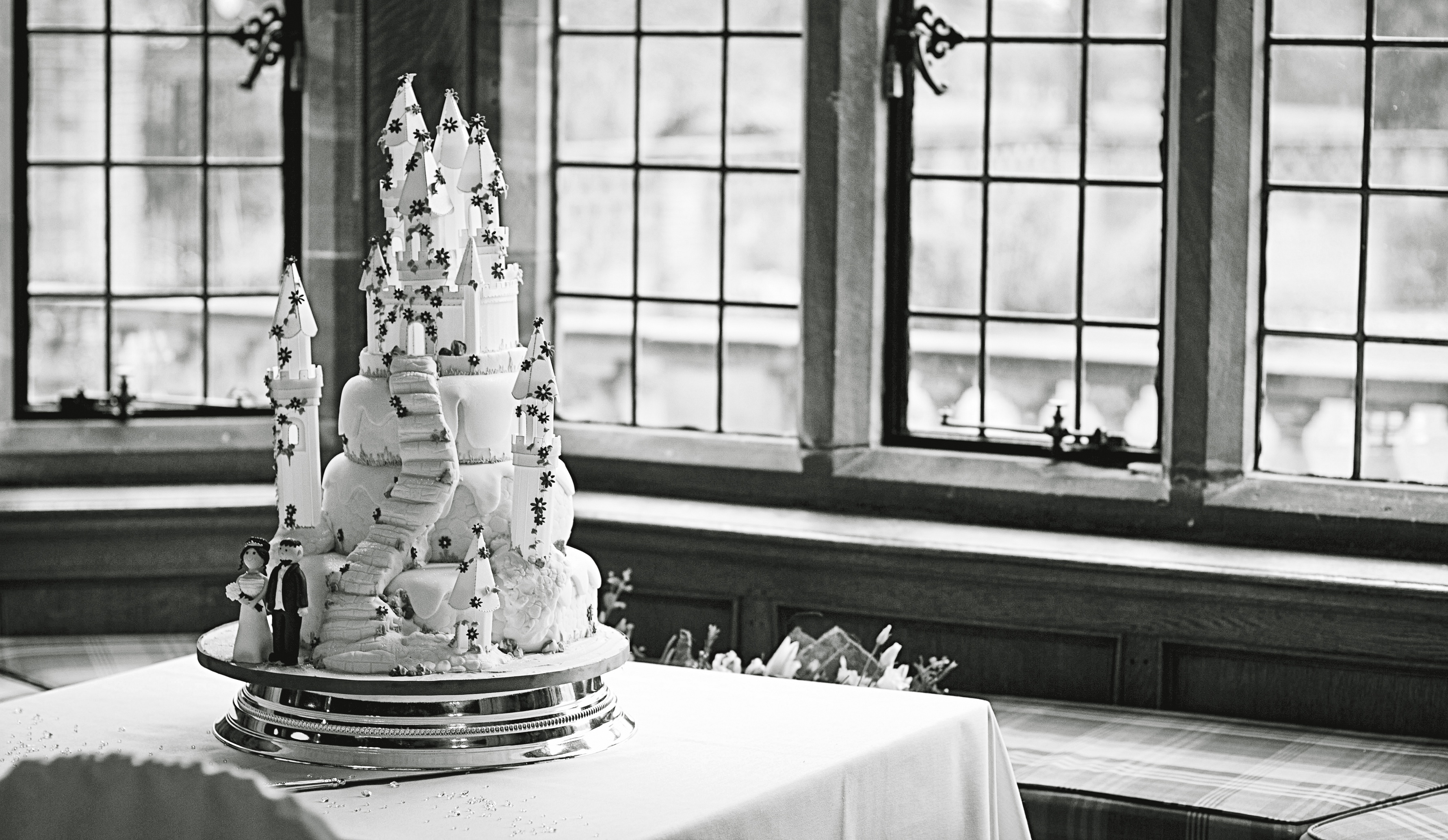Stunning Castle Cake at Inglewood Manor, Cheshire Wedding Photography