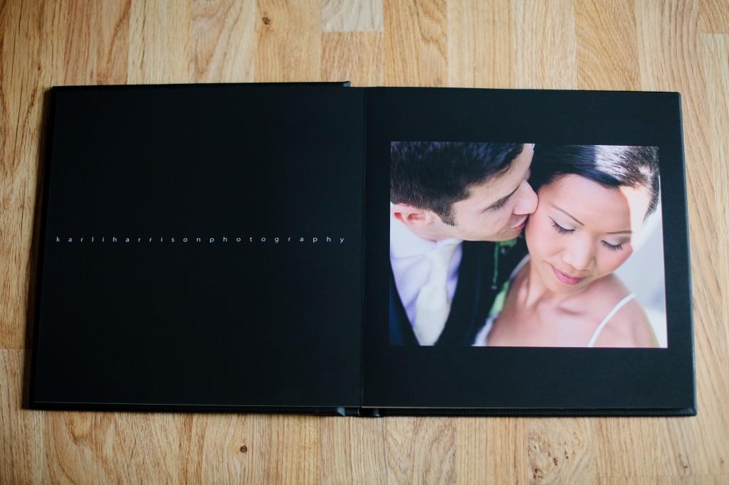First page of wedding album, Lancashire wedding photography