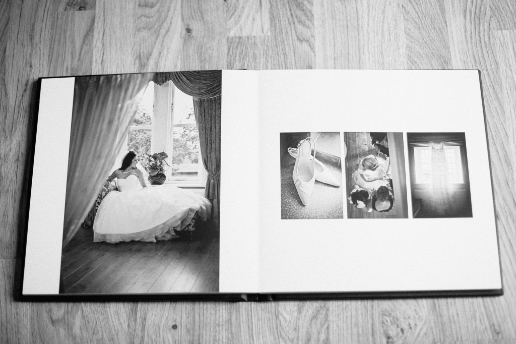 Black and White spreads in Wedding Photography Album
