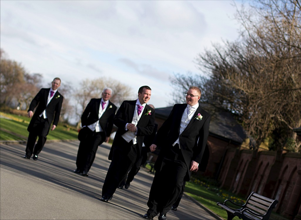 A Groom and His Men Liverpool Wedding