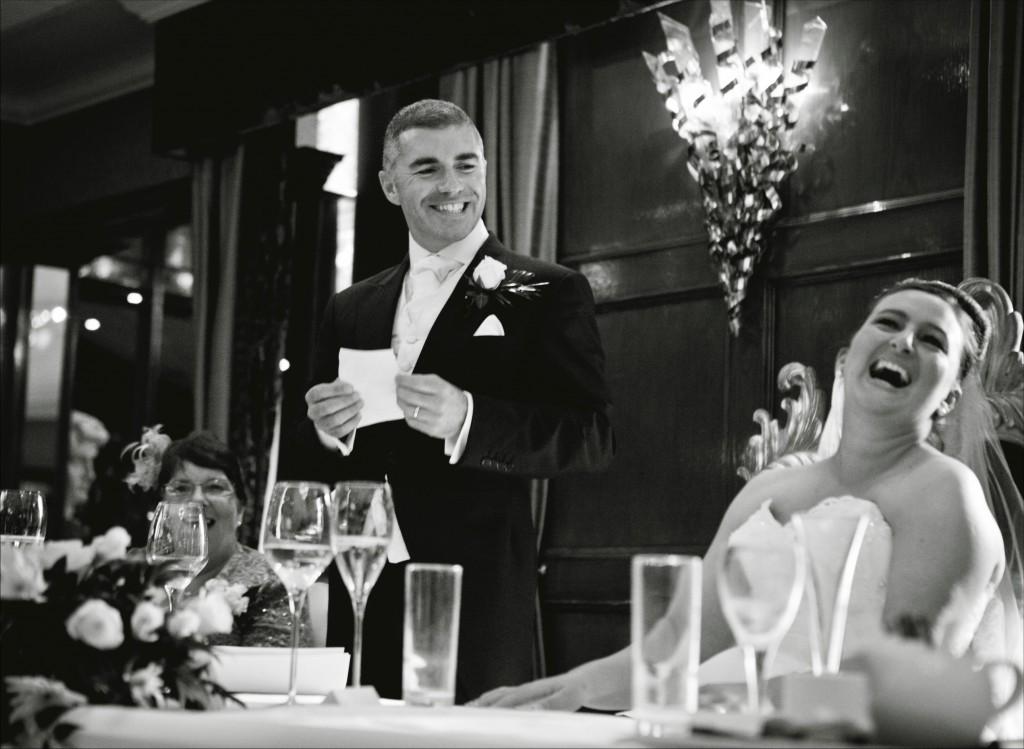 Lancashire Wedding Photography | Modern Wedding Photographer | Grooms Speech