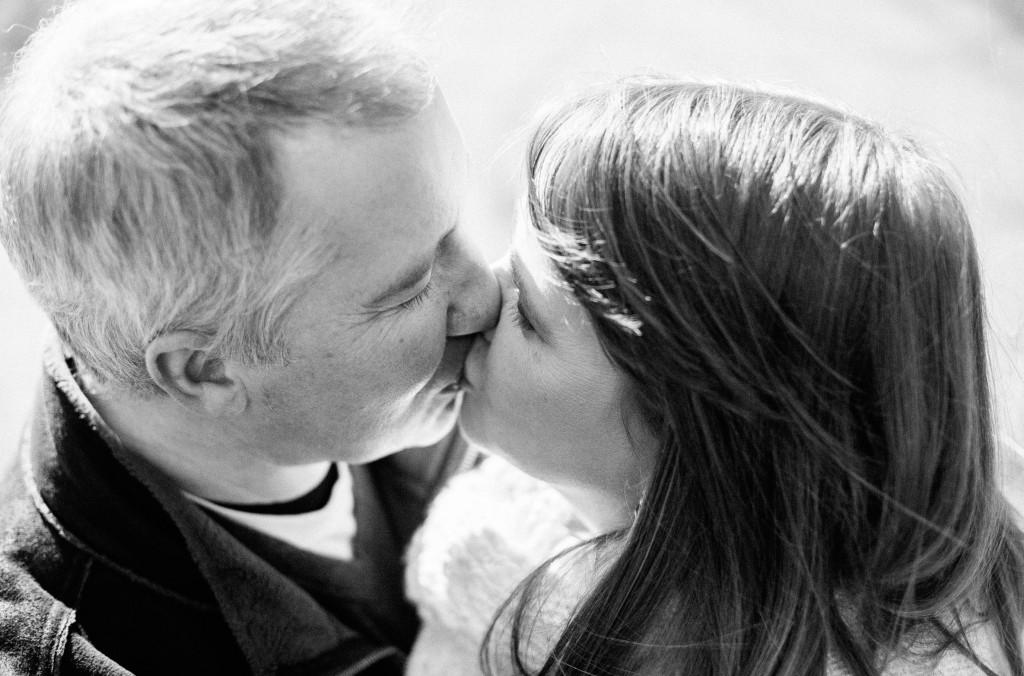 A couple Kissing in Avenham Park Preston, Lancashire Pre wedding Photography