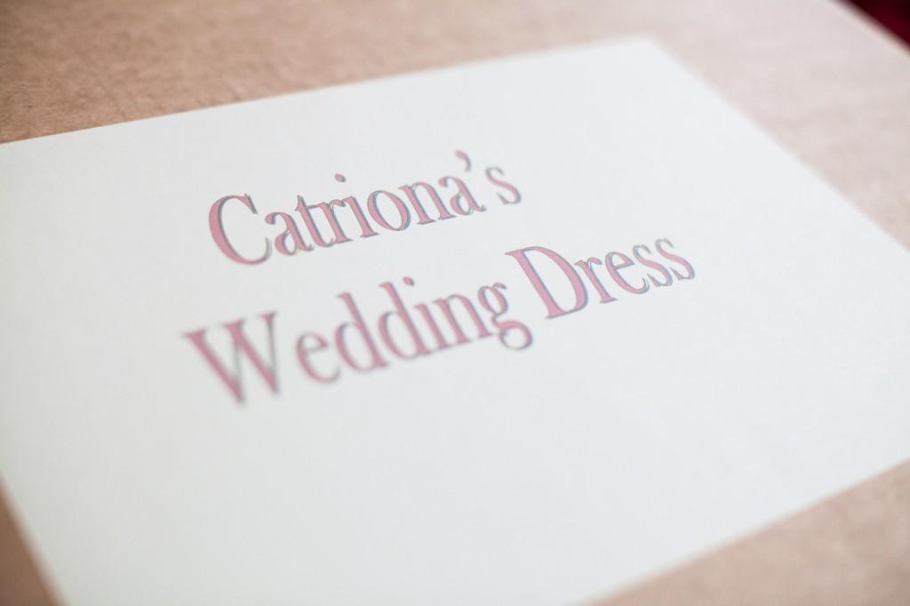 Wedding Dress Box Cumbria Wedding photography