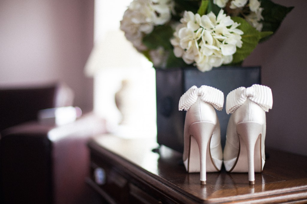 Beautiful bridal shoes, Cheshire Photography