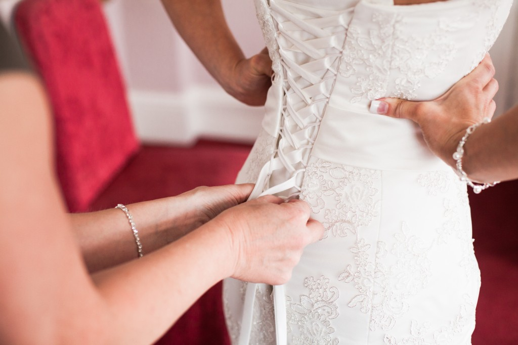 Close up of bridal preparations
