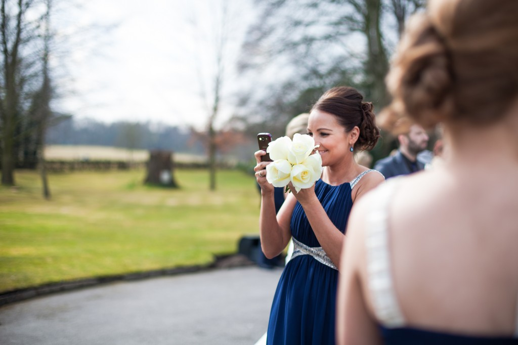 Bridesmaid in Navy dress