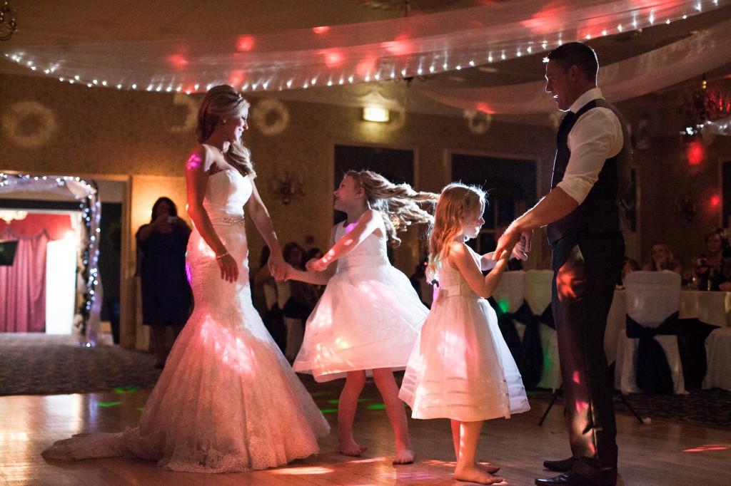 Daughter dancing at wedding