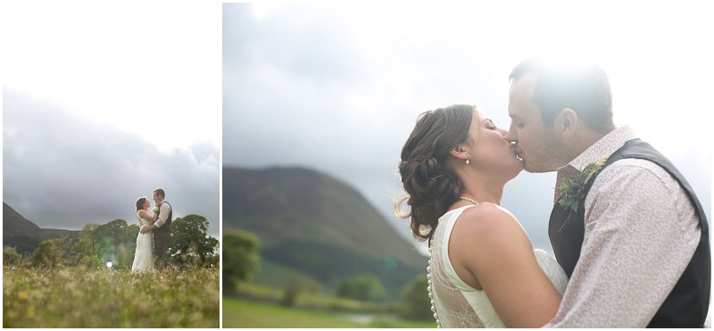Beautiful backlit photographs of bride and groom