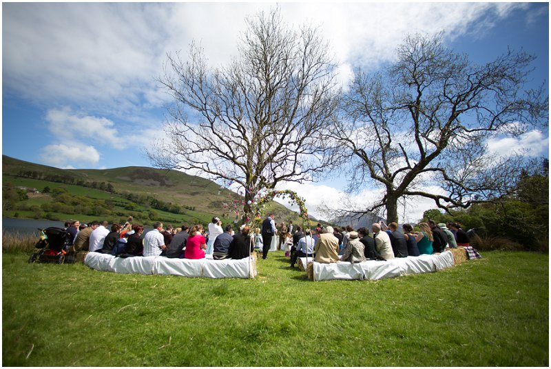 Beautiful Outdoor Wedding Ceremony on Loweswater Cumbria