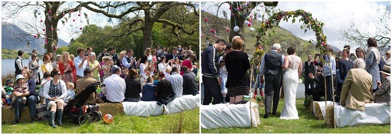 Beautiful outdoor wedding Cumbria