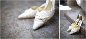 Gorgeous wedding shoes Lancashire Wedding