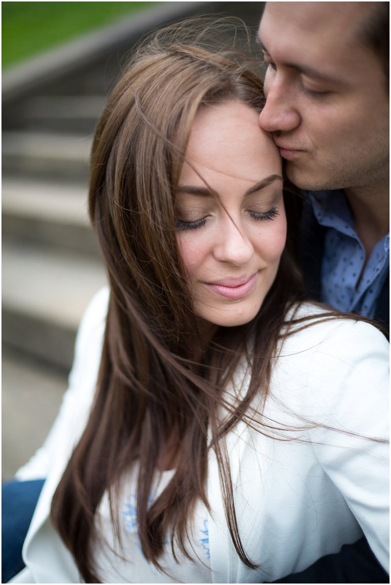 Beautiful couple during engagement photography shoot