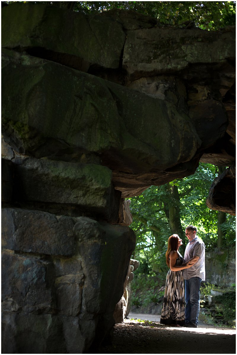 Couple under stone archway Preston Lancashire Photography