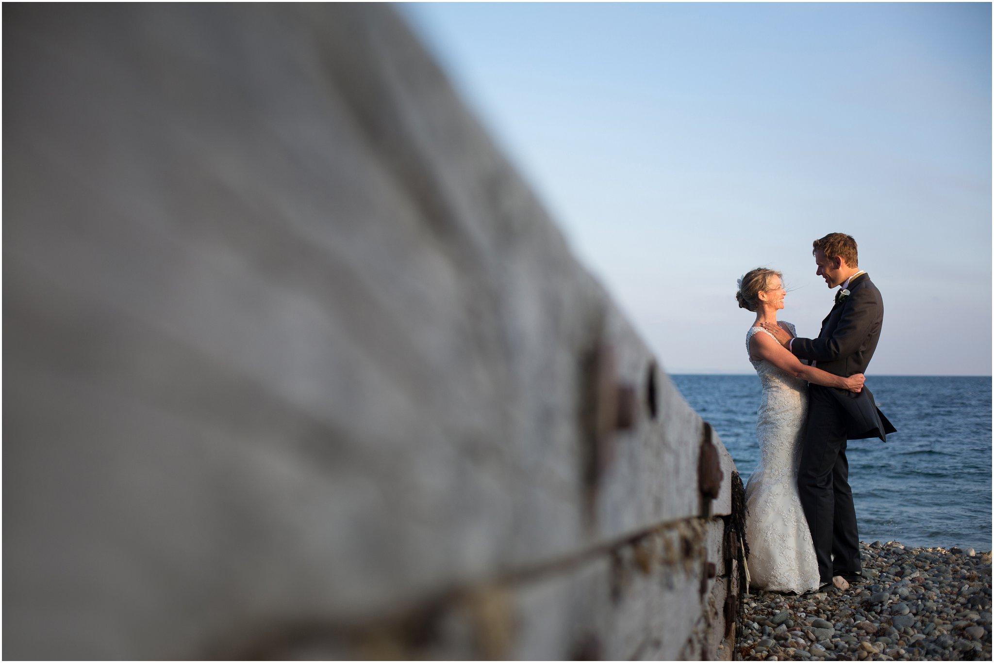 Wedding Beach Photography Bride and Groom