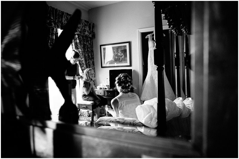 Bride getting ready at Criccieth Wales wedding photography
