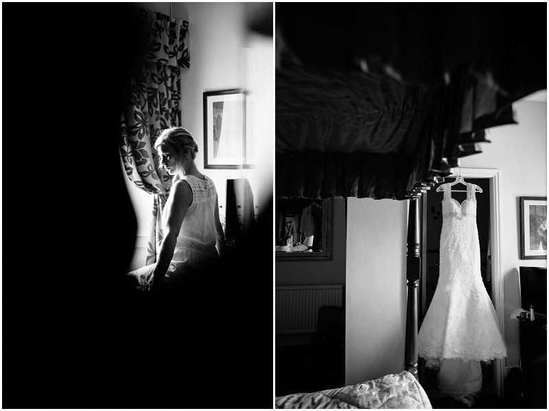 Bridal preparations Criccieth Wales wedding photographer