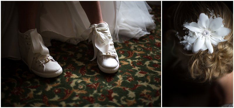 Amazing bride details during Criccieth Wales Wedding Photography