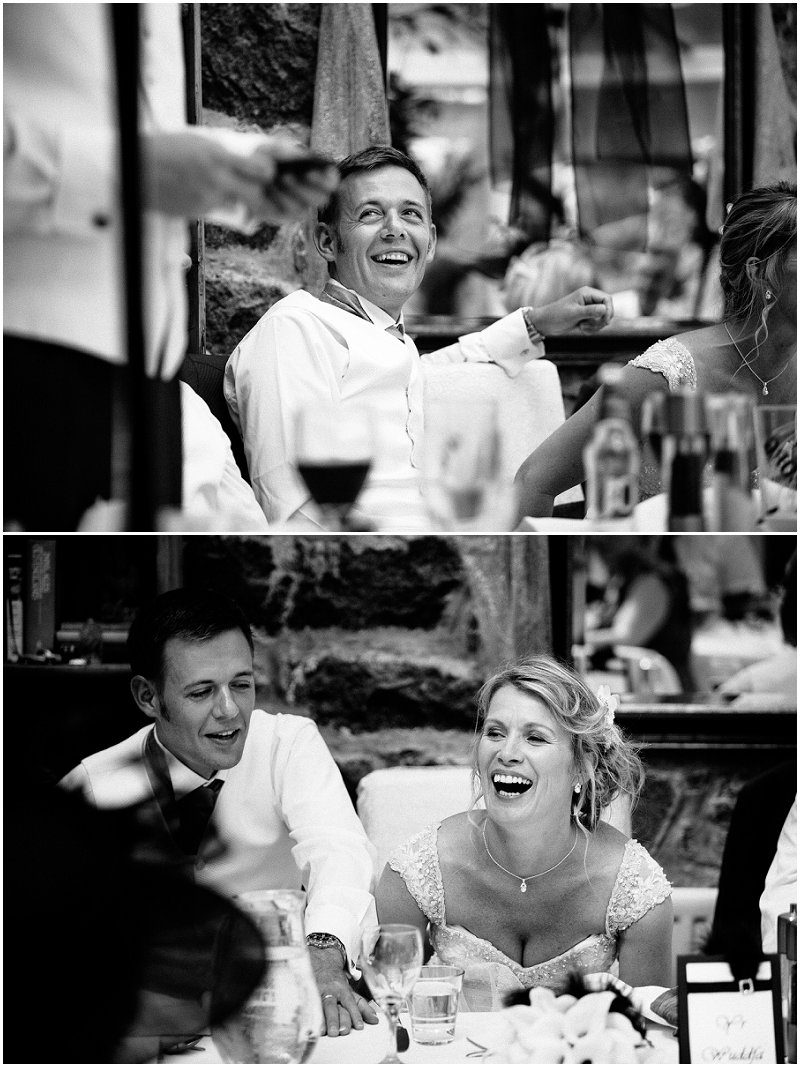 Laughter during the speeches at a Wales wedding | Documentary Wedding Photography