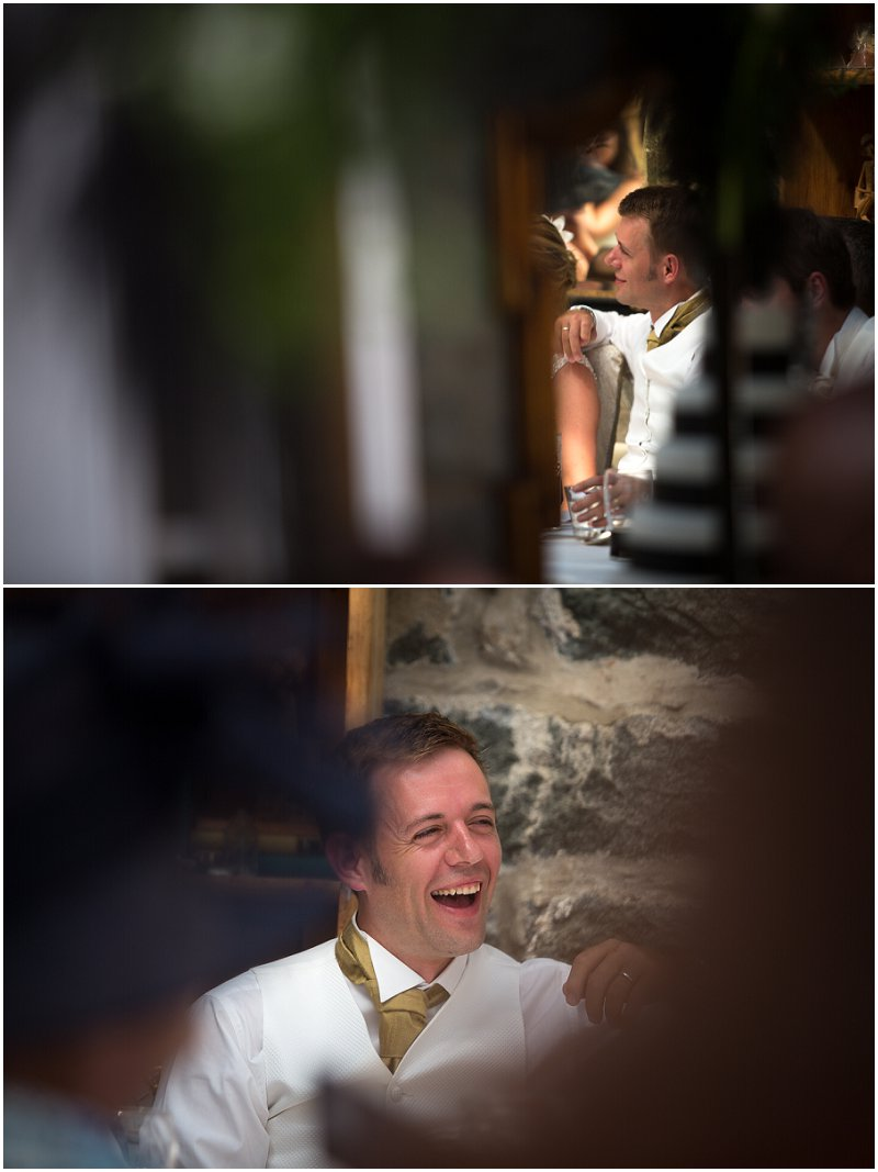 The groom during speeches | Wales wedding photography