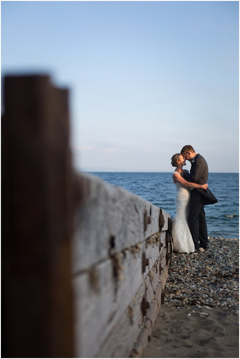 Beach wedding photography Criccieth