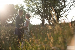 Beautiful Golden Hour Wedding Photography Wales