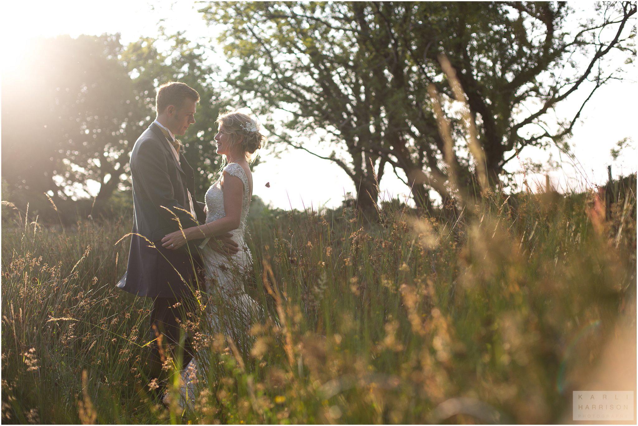 Beautiful Golden Hour Wedding Photography Wales