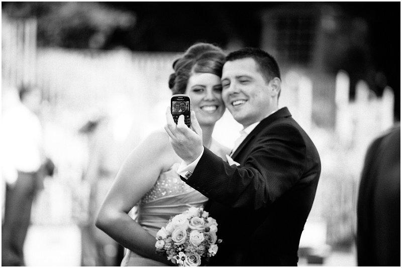 Wedding Guests take self portrait West Tower Lancashire