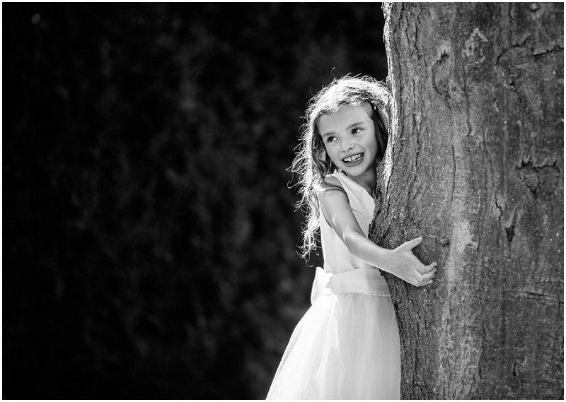 Bridesmaid hugging a tree Lancashire