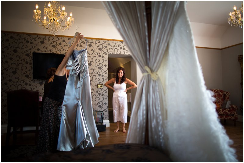 Bride getting ready at West Tower Wedding Photography