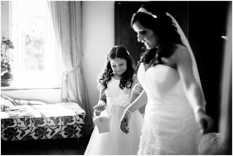 Flower girl at West Tower Wedding Photography