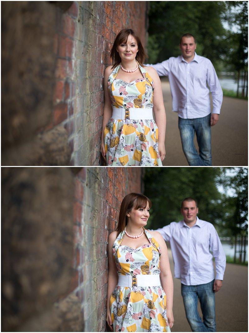 Split Focus engagement shoot Preston Avenham Park