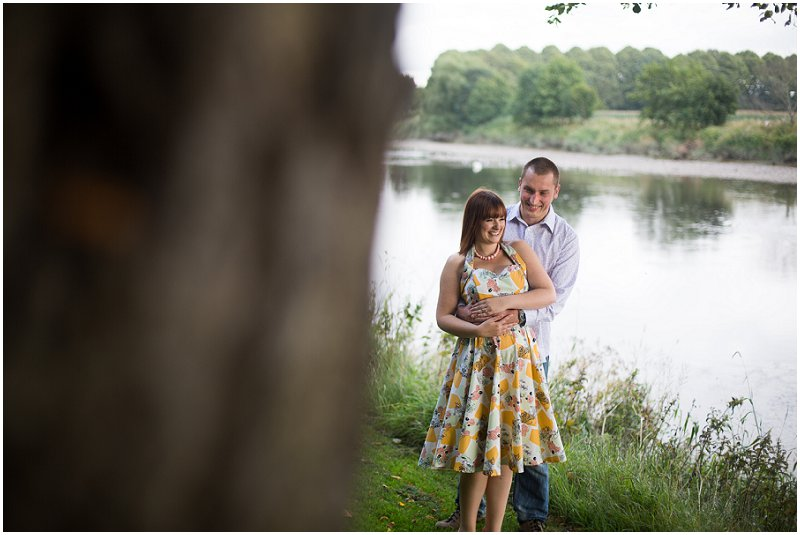 Couple next to the River at Avenham Park