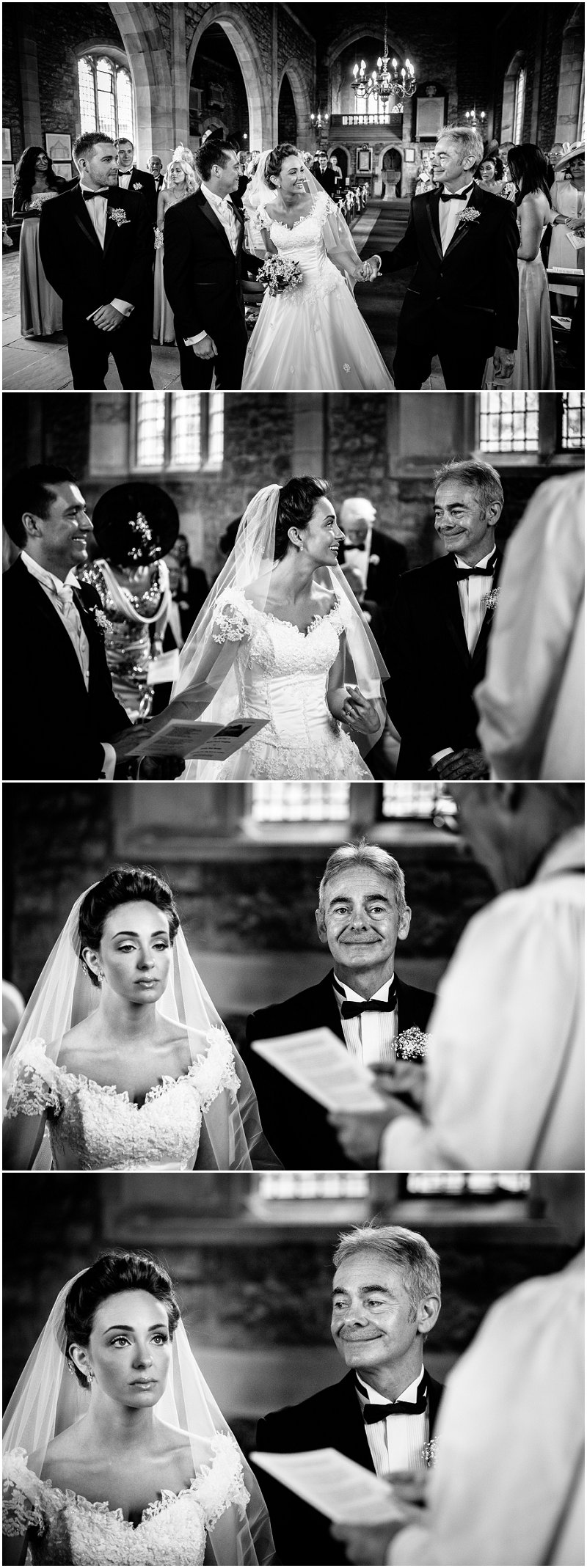 Bride looks at father of the bride lovingly Lancashire