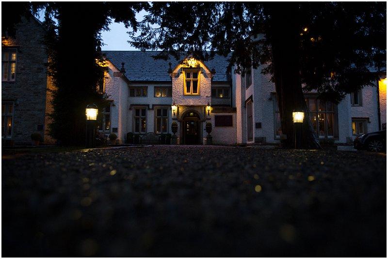 Beautiful Mitton Hall at night