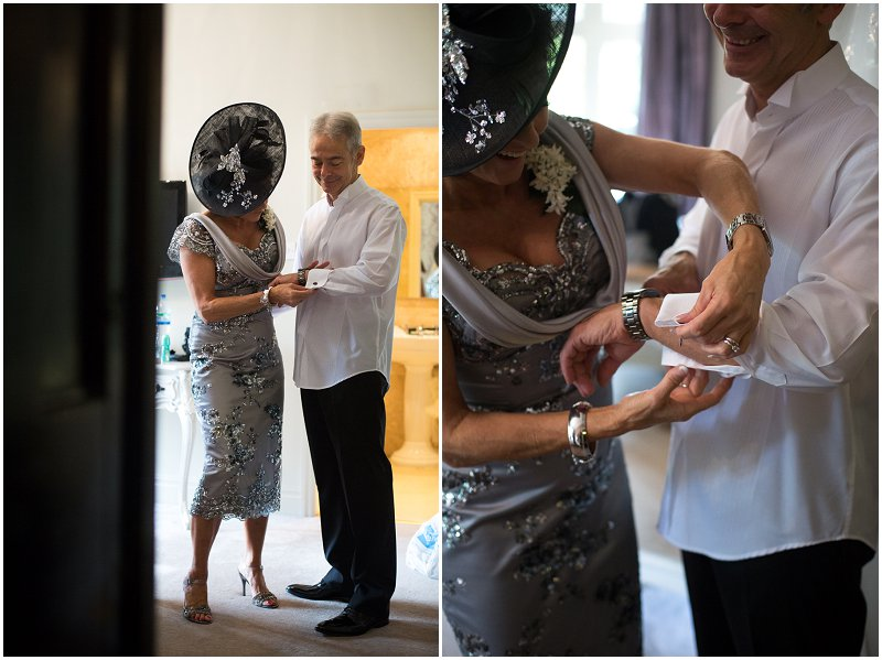 Mother and Father of the Bride prep Mitton Hall Lancashire Wedding Photography