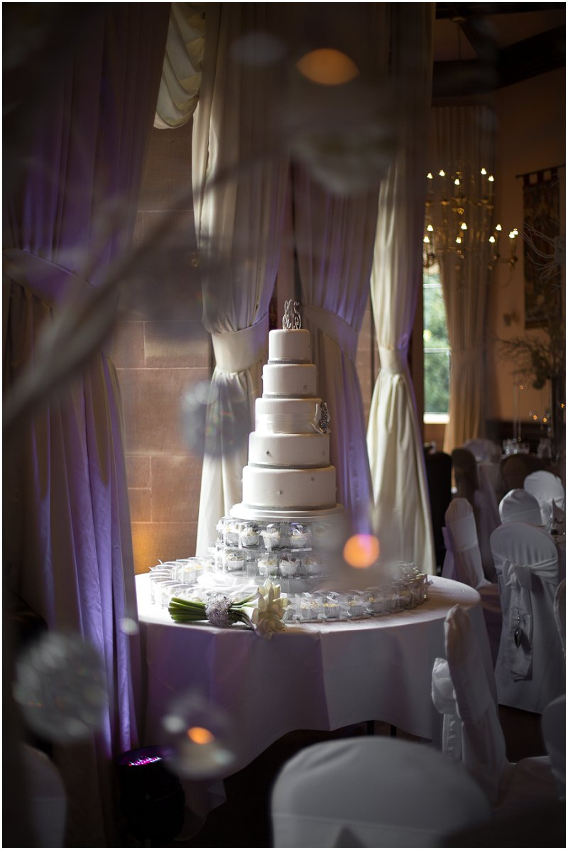 Gorgeous Wedding Cake Peckforton Castle Cheshire