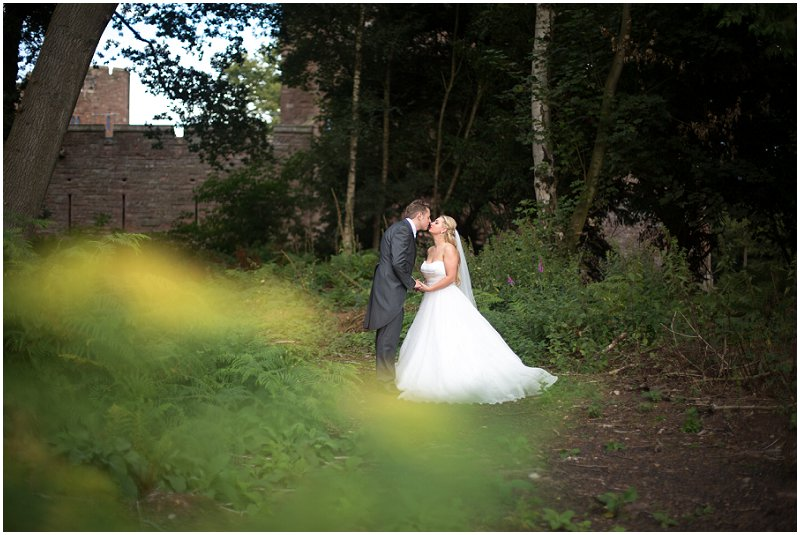 Bride and Groom Kissing | Cheshire Wedding Photographer