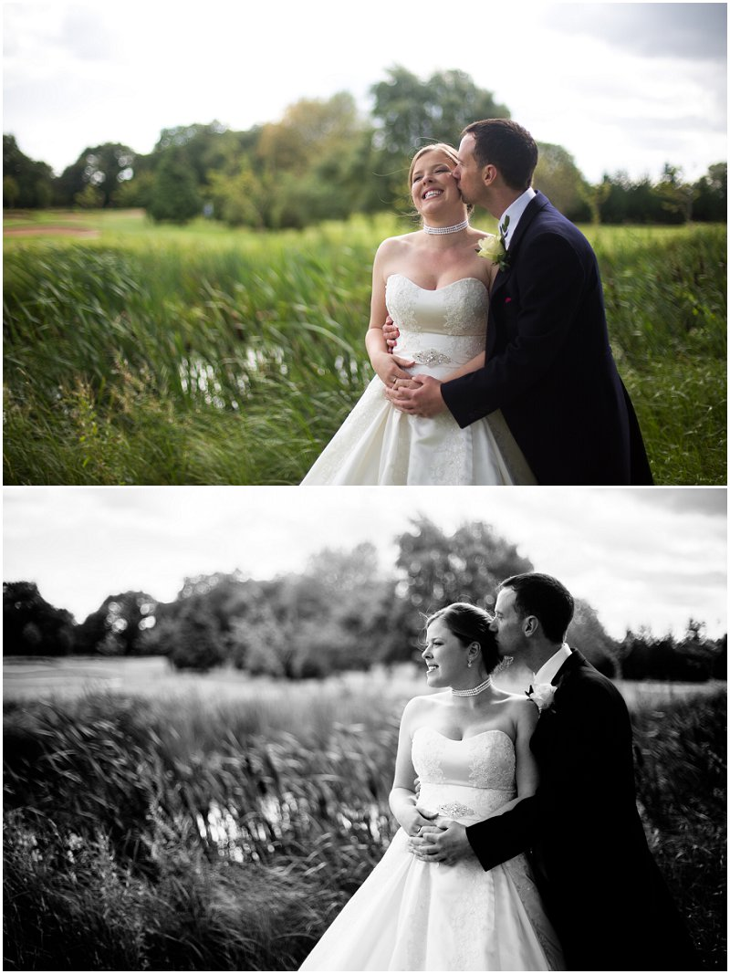 Bride and Groom during Couples Pictures