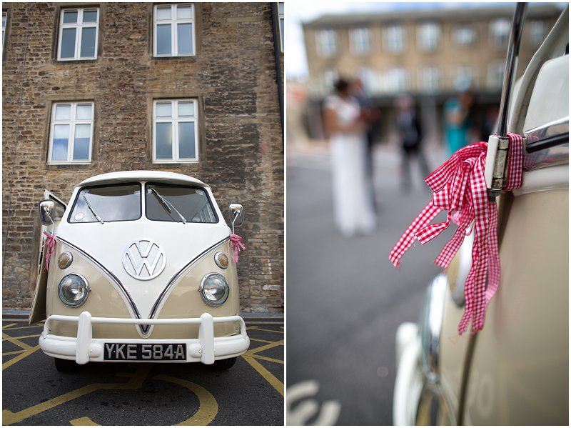 Skipton Registry Office Wedding Photography VW Van