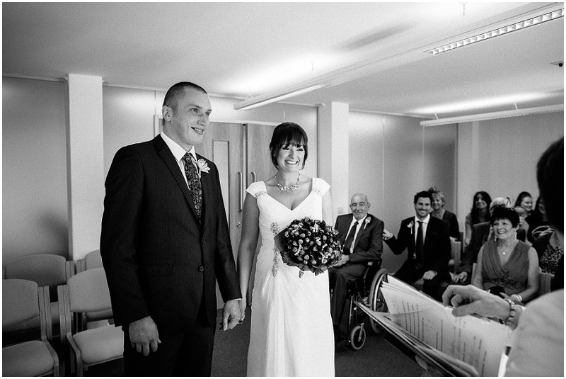 Bride and Groom at Skipton Registry Office Wedding Photographer