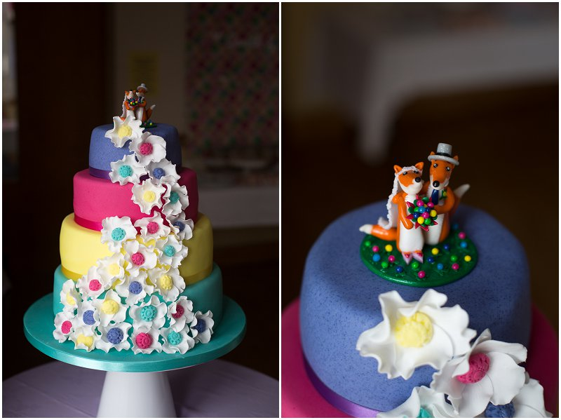 Tosside Wedding Photography | Foxes Cake Topper