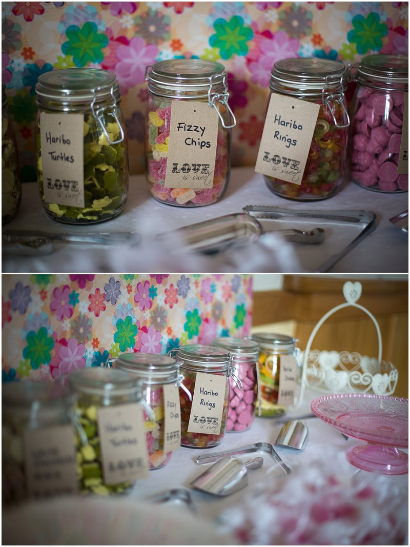 Pick and Mix Wedding Sweet Table