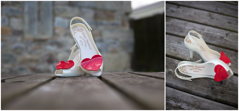 Vivian Westwood Wedding shoes | Hearts