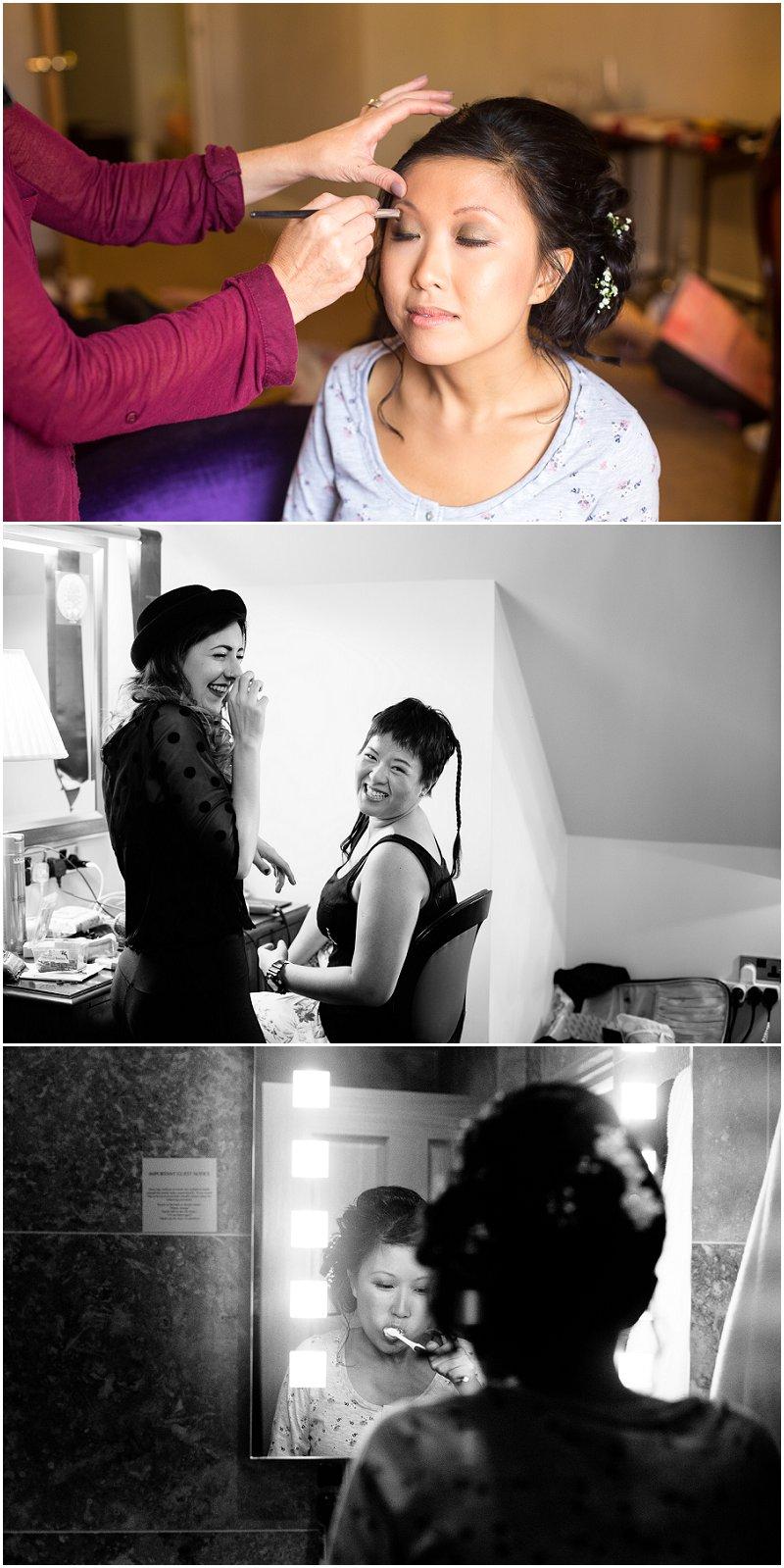The Villa Wedding Photography Lancashire Makeup Preparations