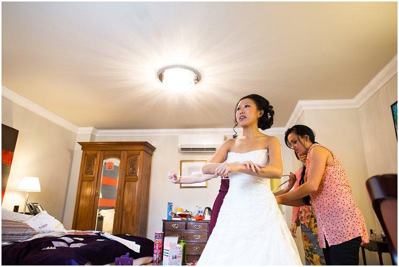 The bride at Wrea Green, Lancashire Wedding Photographer